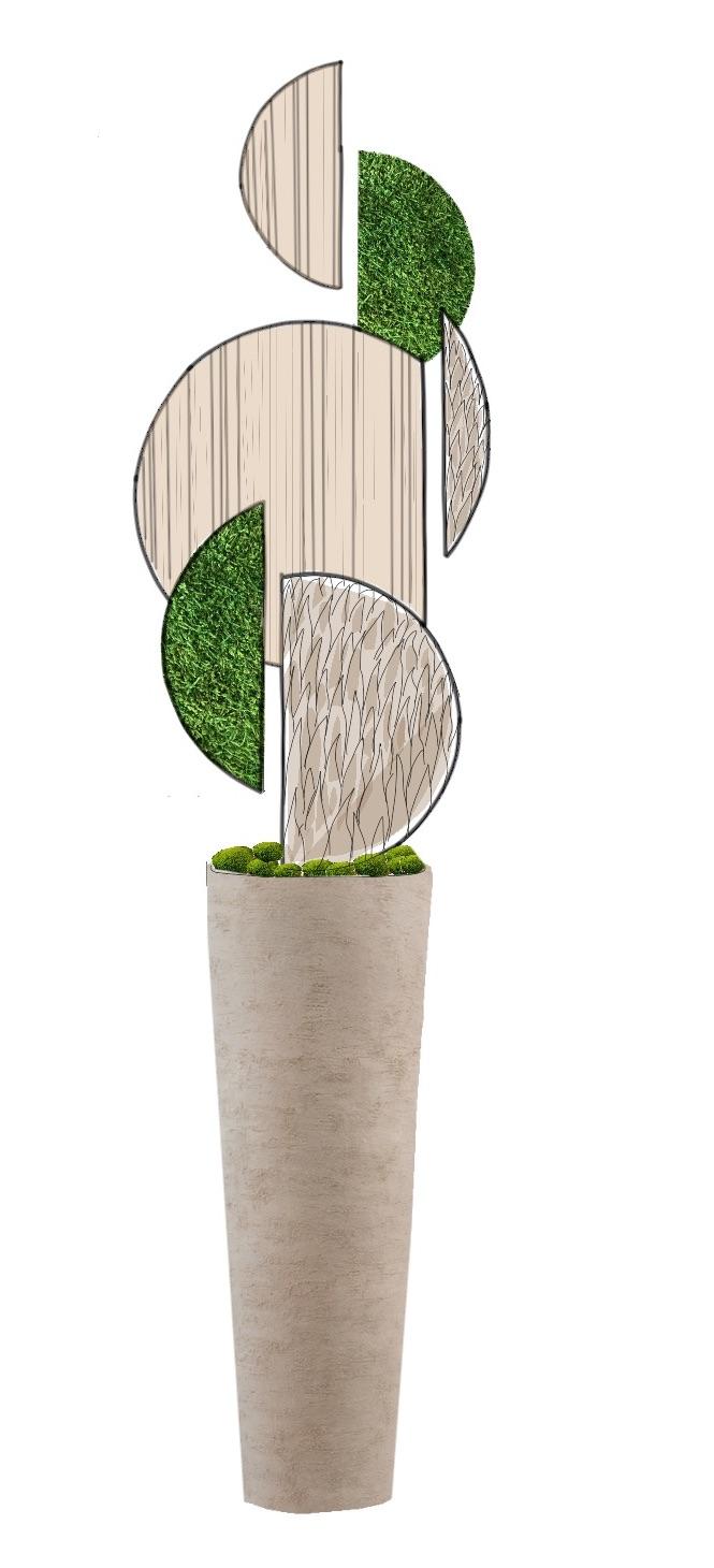 Création composition végétale stabilisée